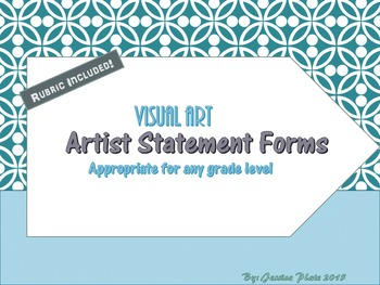 Artist Statement Forms