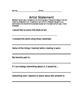 Artist Statement Guide
