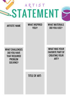 Artist Statement Handout