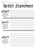 Artist Statement Handout for Elementary