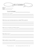 Artist Statement- Printable Artist Statement can fit to an