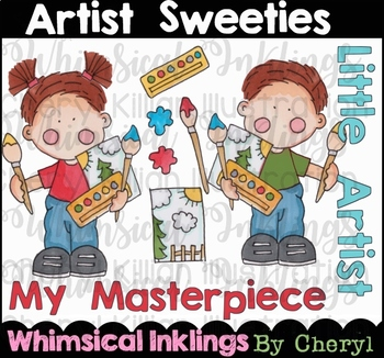 Artist Sweeties Clipart Collection