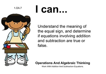 Artist Theme 1st grade math Common Core Posters first Grade Standards
