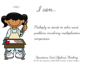 Artist Theme 4th grade math Common Core Posters fourth Grade Standards