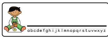 Artist Theme Desk Nameplates (Set of Four)