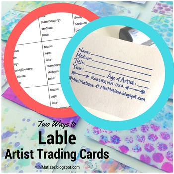 Artist Trading Card Template