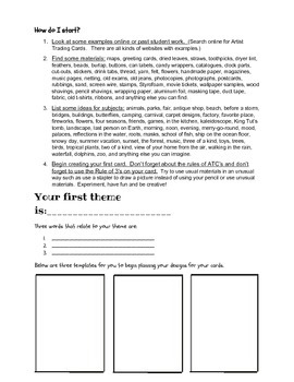 Artist Trading Cards Intro Lesson/ Handout