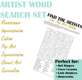 Artist Word Search Bundle