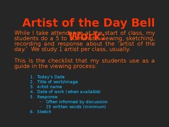 Artist of the Day Bell Work For Saskatchewan Arts Education - The Jumbo Edition