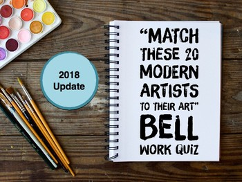 Artist of the Day Identification Quiz (Modern Art themed Bellwork)