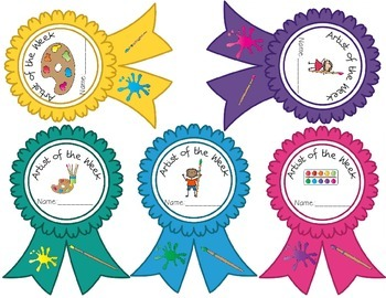 Artist of the Week Award Ribbons
