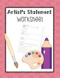 Artist's Statement Worksheet