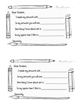 Artist statement writing promp