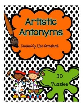 Artistic Antonym Puzzles