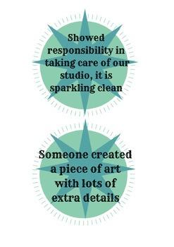 Artistic Behaviors BINGO