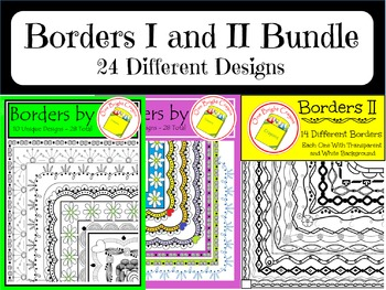 Borders and Frames I and II Bundled