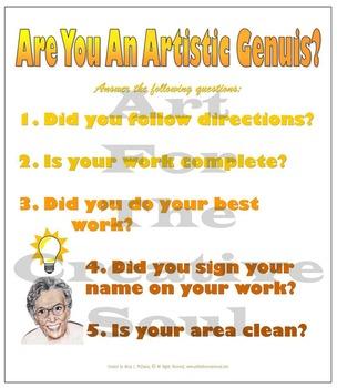 Artistic Genius Poster