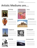 Artistic Mediums   (6 pages, with Teachers Guide), Art Lesson