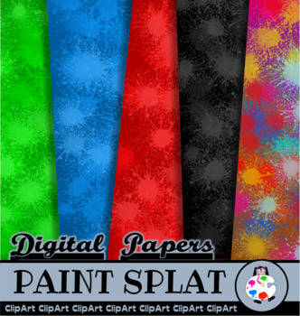 Artistic Paint Splat Paper Textures