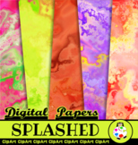 Artistic Splashed Marble Background Papers