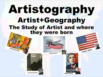 Artistography-The study of American Artist and where they where born