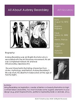 Aubrey Beardsley Sketchbook Prompt