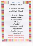 Artists As Art Is: A Year of Artists and Their Work
