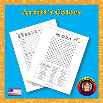 Artist's Colors Worksheet