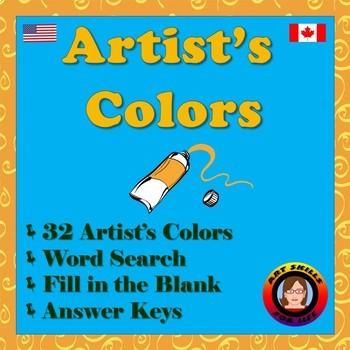 Artist's Colors Worksheet