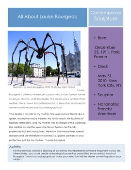 Artists- Louise Bourgeois