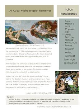 Artists- Michelangelo - Narratives