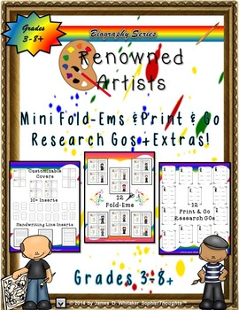 World Renowned Artists and Painters Mini Research Fold-Ems