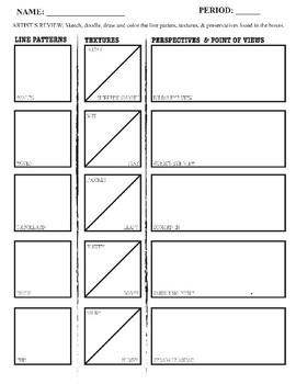 ART 101: Line Pattern, Texture & Perspective (worm's, bird's, zoomed-in)
