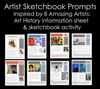 Sketchbook Prompts inspired by Artists
