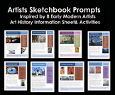 Sketchbook Prompts inspired by Artists 2