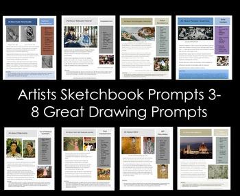 Artists-Sketchbook Prompts 3