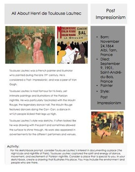 Artists-Toulouse Lautrec