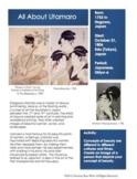 Japanese Art Sketchbook Prompt- Utamaro