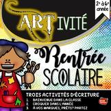 All about me / Rentrée Scolaire en français / Core French Back to School