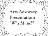 Arts Advocacy Speech - Great for Music Departments, Arts A