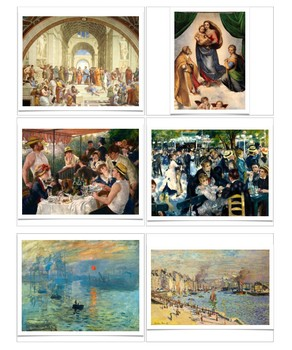 Arts Cards--Two Paintings by the Same Artist-- Montessori matching and sorting
