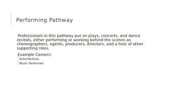 Arts Career Cluster Presentation