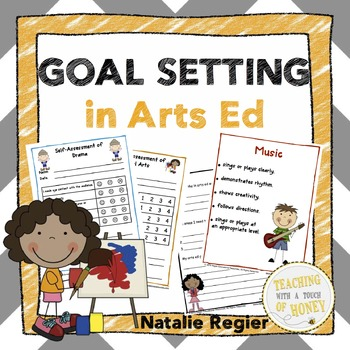 Goal Setting For Students | Arts Education | Fine Arts | Assessment | BUNDLE