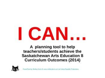 Arts Education 8 - Year Planning for Saskatchewan Teachers Made Easy
