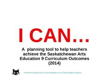 Arts Education 9 - Year Planning for Saskatchewan Teachers Made Easy