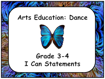 Arts Education: Dance Grade 3-4 I Can Statements