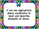 Arts Education: Dance Kindergarten I Can Statements