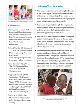 Arts Education Fact Sheet