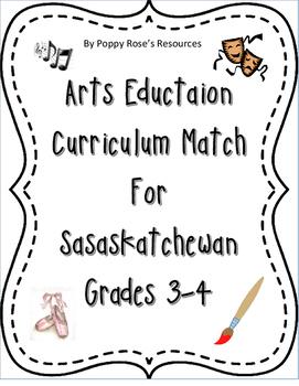 Arts Education Grade 3-4 Curriculum Match - Saskatchewan