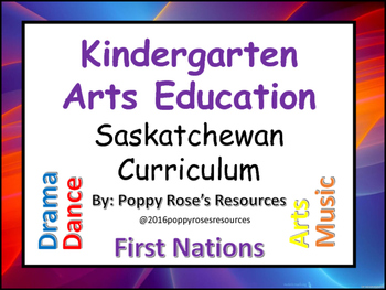 Arts Education I Can Statements for the Kindergarten Year